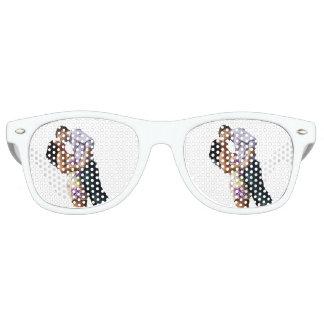 Couples Sunglasses | Watercolor Ombre Retro Shades