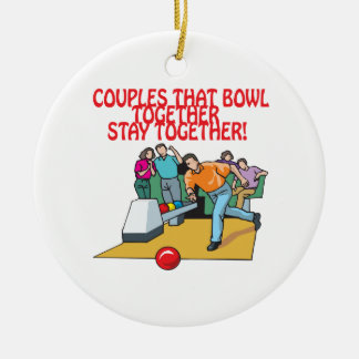 Couples That Bowl Together Christmas Ornament
