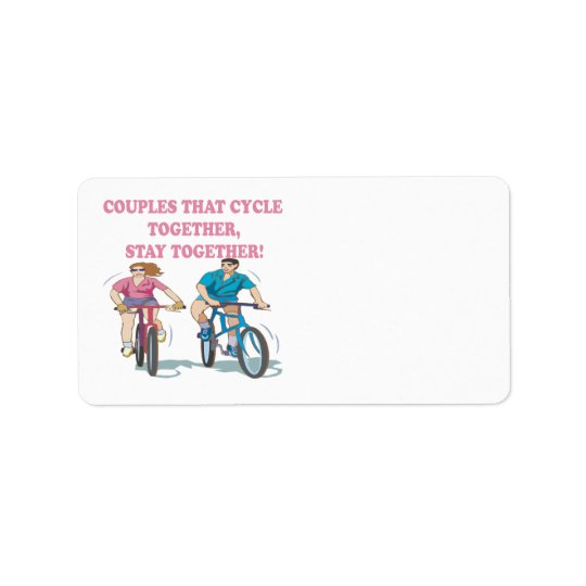Couples That Cycle Together Address Label