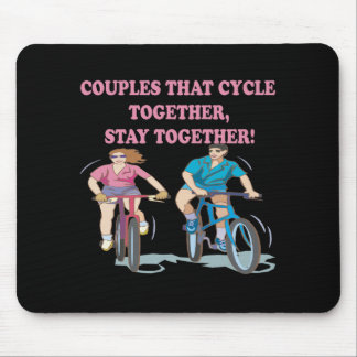 Couples That Cycle Together Mouse Mat