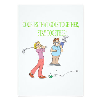 Couples That Golf Together Stay Together Announcement