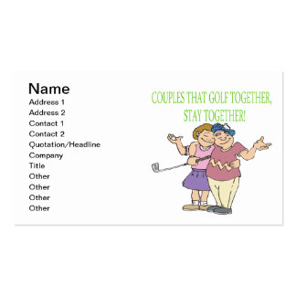 Couples That Golf Together Stay Together Pack Of Standard Business Cards