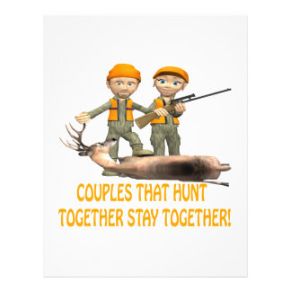Couples That Hunt Together Stay Together 21.5 Cm X 28 Cm Flyer