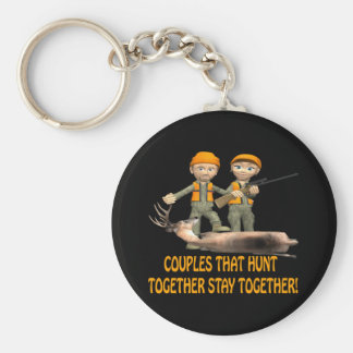 Couples That Hunt Together Stay Together Key Ring