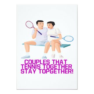 Couples That Tennis Together 13 Cm X 18 Cm Invitation Card