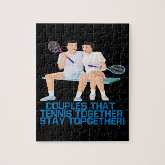 Couples That Tennis Together Jigsaw Puzzle