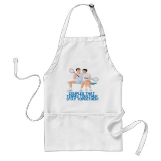 Couples That Tennis Together Standard Apron