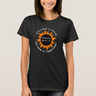 Couples Totality Solar Eclipse Personalized T-Shirt