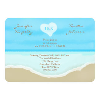 Couples Wedding Shower Invitations Beach