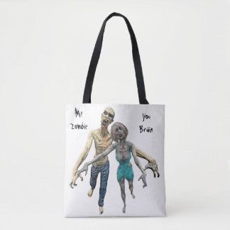 Couples Zombies Tote Bag