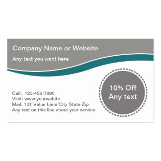 Coupon Business Carsd Business Card