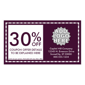 coupon card : emo style pack of standard business cards
