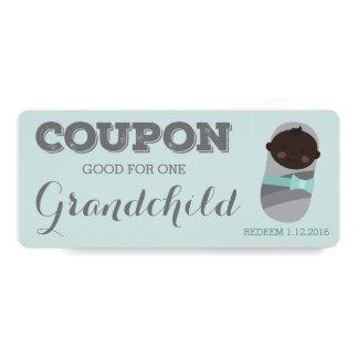 Coupon for Grandchild Pregnancy Announcement