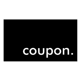 coupon. pack of standard business cards