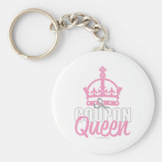 Coupon Queen Basic Round Button Key Ring