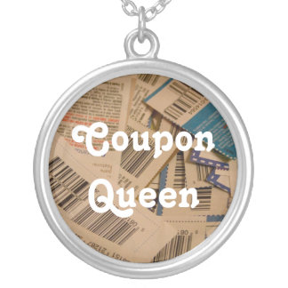 coupon queen round pendant necklace
