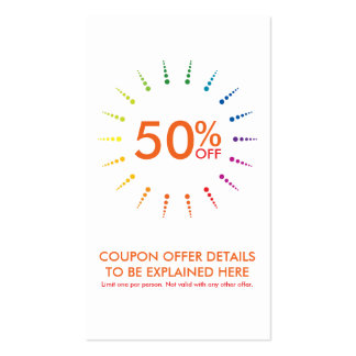 coupon rainbowBurst Pack Of Standard Business Cards