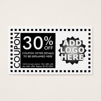 coupon template business card
