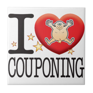 Couponing Love Man Small Square Tile