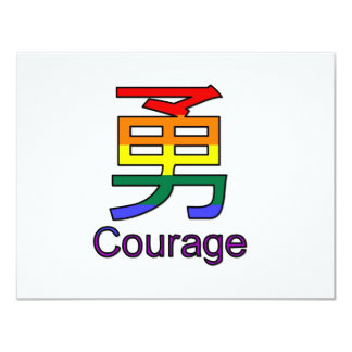 Courage 11 Cm X 14 Cm Invitation Card
