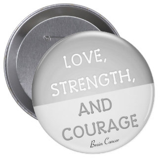 Courage Badge Brain Cancer (Gray)