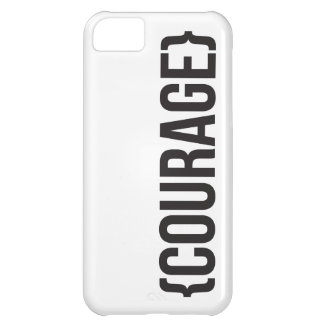 Courage - Bracketed - Black and White iPhone 5C Case