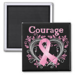 Courage Breast Cancer Awareness Ribbon Fridge Magnets