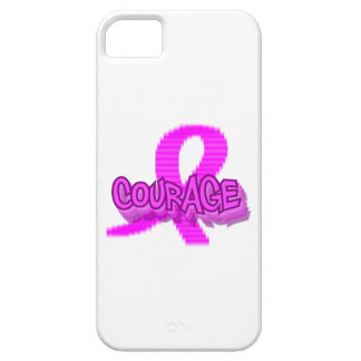 Courage Breast Cancer iPhone 5/5S, Barely There iPhone 5 Covers
