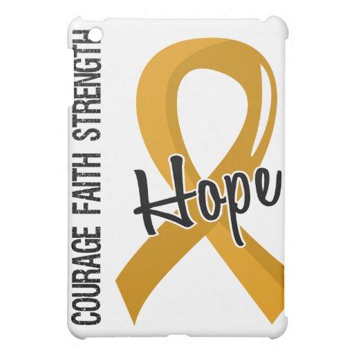 Courage Faith Hope 5 Appendix Cancer Cover For The iPad Mini
