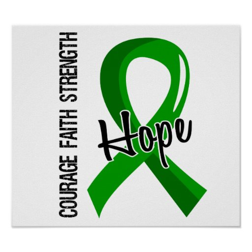 Courage Faith Hope 5 Bile Duct Cancer Posters