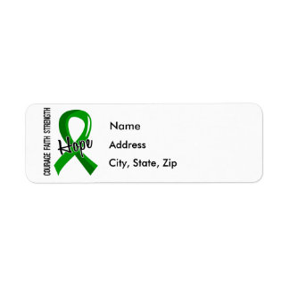 Courage Faith Hope 5 Bile Duct Cancer Return Address Label