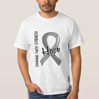 Courage Faith Hope 5 Brain Cancer T-Shirt