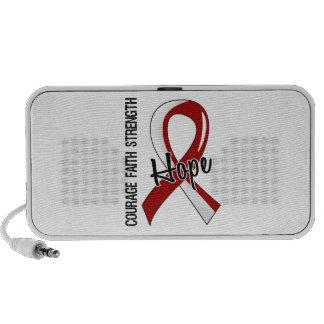 Courage Faith Hope 5 Head Neck Cancer Notebook Speaker