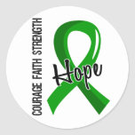 Courage Faith Hope 5 Organ Donation Round Stickers