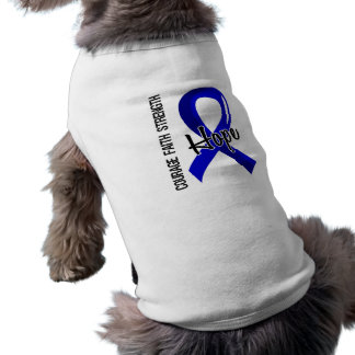 Courage Faith Hope 5 Rectal Cancer Dog Shirt