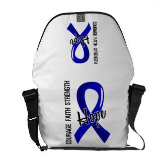 Courage Faith Hope 5 Rectal Cancer Messenger Bag