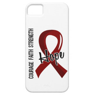 Courage Faith Hope 5 Sickle Cell Disease iPhone 5 Cases