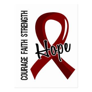 Courage Faith Hope 5 Sickle Cell Disease Postcard