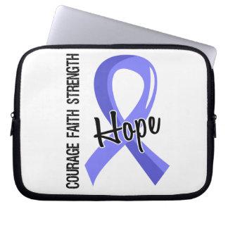 Courage Faith Hope 5 Thyroid Disease Laptop Computer Sleeve