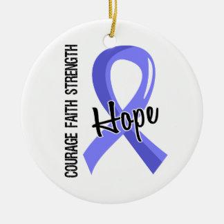 Courage Faith Hope 5 Thyroid Disease Ornaments