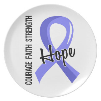 Courage Faith Hope 5 Thyroid Disease Plate