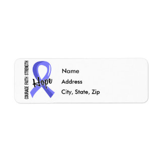 Courage Faith Hope 5 Thyroid Disease Return Address Label