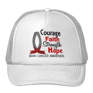 Courage Faith Strength Hope Brain Cancer Cap