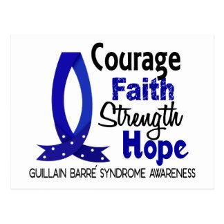 Courage Faith Strength Hope Guillain Barre Syndrom Postcard