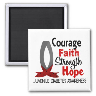 Courage Faith Strength Hope Juvenile Diabetes Magnets