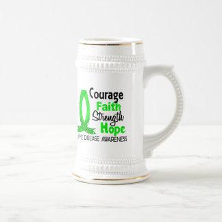 Courage Faith Strength Hope Lyme Disease 18 Oz Beer Stein