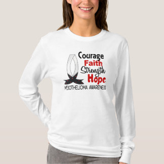 Courage Faith Strength Hope Mesothelioma T-Shirt