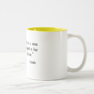 courage, fear, confidence Aristotle cup Two-Tone Mug