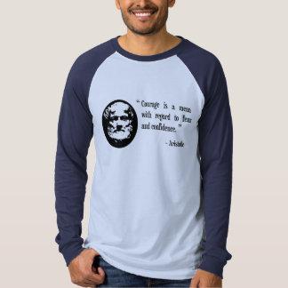 courage, fear, confidence Aristotle Greek shirt