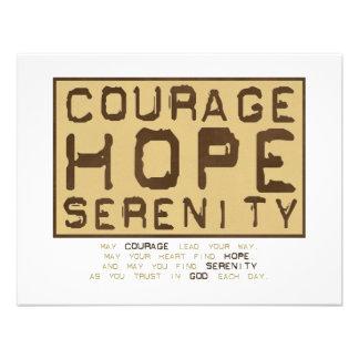 Courage Hope Serenity 1 Custom Invites